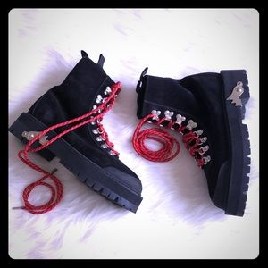 *brand new* custom lace up boots